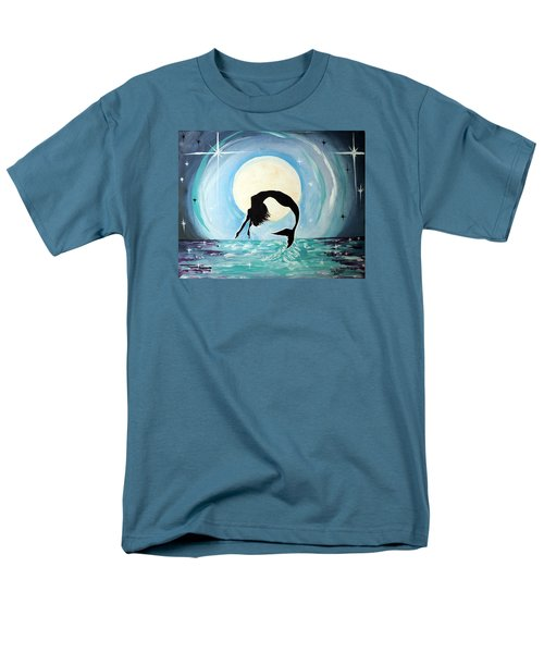 Men's T-Shirt  (Regular Fit) featuring the painting Mermaid by Tom Riggs