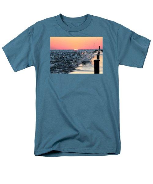 Michigan Summer Sunset Men's T-Shirt  (Regular Fit) by Bruce Patrick Smith