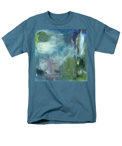 Men's T-Shirt  (Regular Fit) featuring the painting Mid-day Reflection by Michal Mitak Mahgerefteh