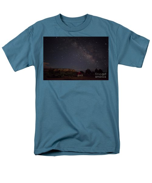 Men's T-Shirt  (Regular Fit) featuring the photograph Milky Way Over White Pocket Campground by Anne Rodkin