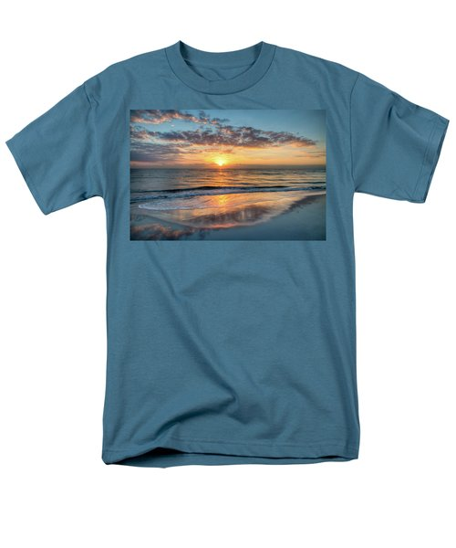 Men's T-Shirt  (Regular Fit) featuring the photograph Mirror At Sunrise by Debra and Dave Vanderlaan