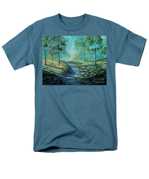Misty Morning Path Men's T-Shirt  (Regular Fit) by Ruanna Sion Shadd a'Dann'l Yoder