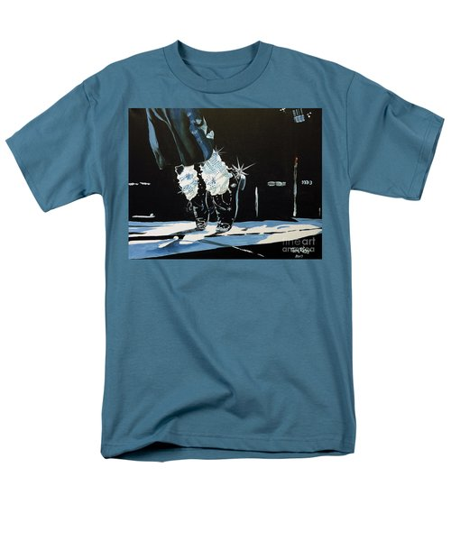 Men's T-Shirt  (Regular Fit) featuring the painting Mj On His Toes by Tom Riggs
