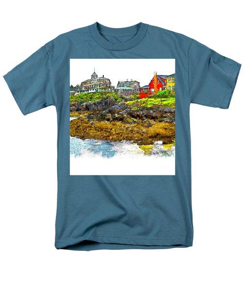 Monhegan West Shore Men's T-Shirt  (Regular Fit) by Tom Cameron