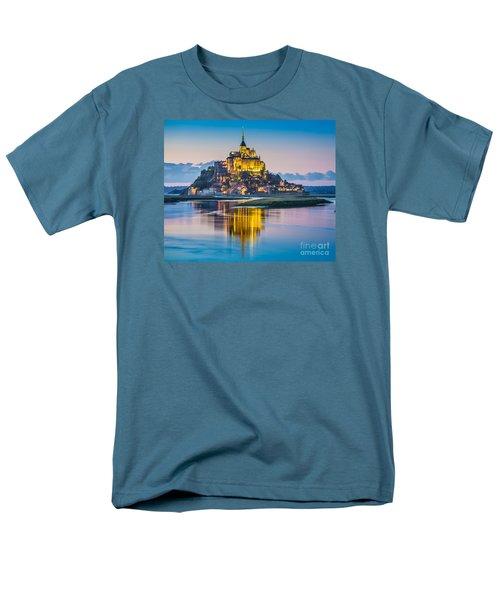 Mont Saint-michel In Twilight Men's T-Shirt  (Regular Fit) by JR Photography