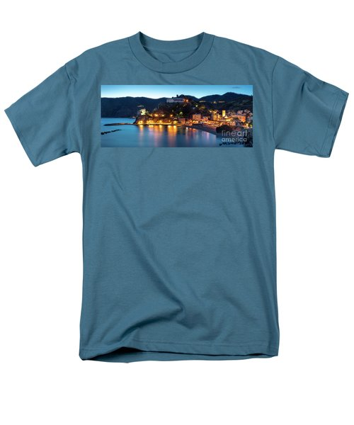 Men's T-Shirt  (Regular Fit) featuring the photograph Monterosso Al Mare At Twilight by Brian Jannsen