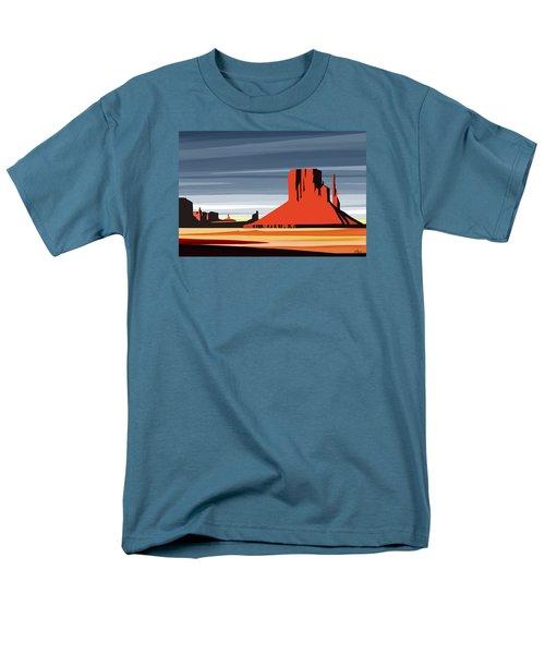 Monument Valley Sunset Digital Realism Men's T-Shirt  (Regular Fit) by Sassan Filsoof