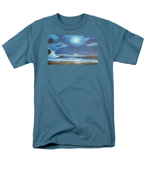 Moon Light Night In Paradise Men's T-Shirt  (Regular Fit) by Lloyd Dobson