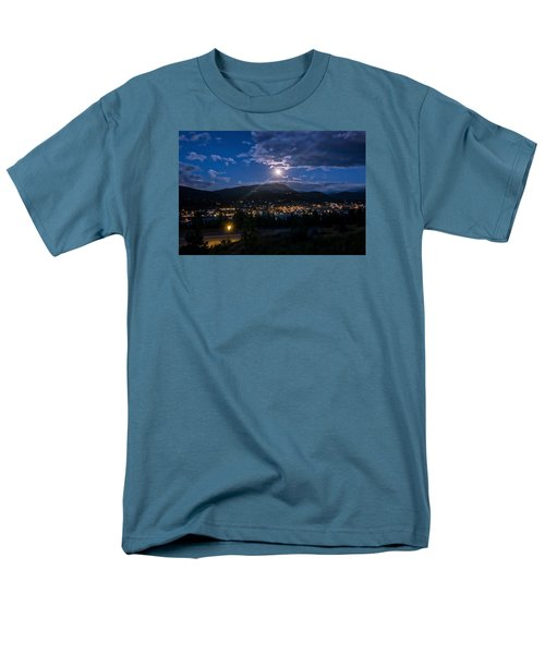 Moon Rising Over Breckenridge Men's T-Shirt  (Regular Fit) by Michael J Bauer