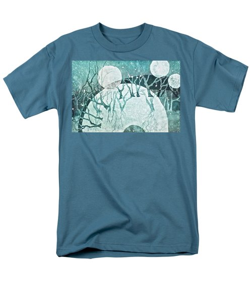 Men's T-Shirt  (Regular Fit) featuring the painting Moon Shadows by Carolyn Rosenberger