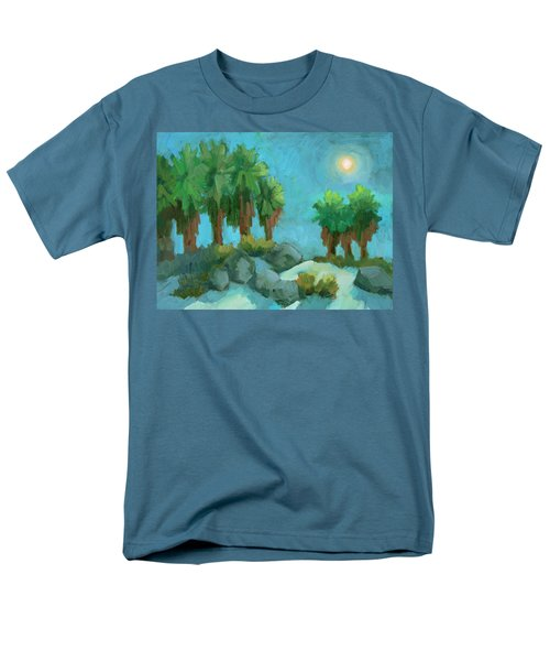 Men's T-Shirt  (Regular Fit) featuring the painting Moon Shadows Indian Canyon by Diane McClary