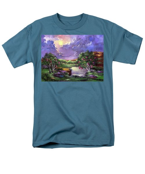 Moonlight In The Woods Men's T-Shirt  (Regular Fit) by Randy Burns