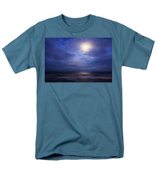 Moonlight On The Ocean At Hatteras Men's T-Shirt  (Regular Fit) by Joni Eskridge
