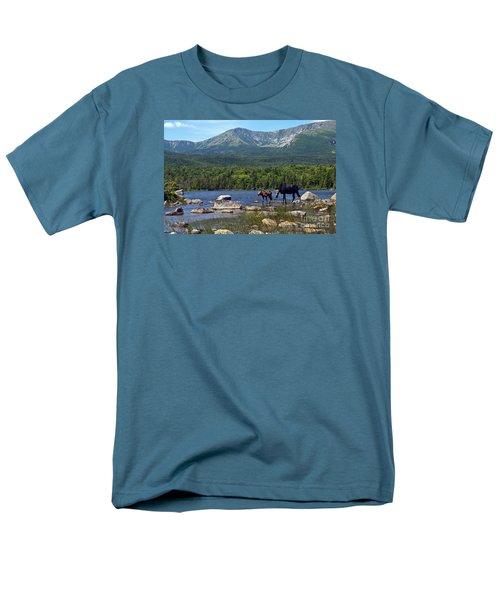 Moose Baxter State Park Maine 2 Men's T-Shirt  (Regular Fit) by Glenn Gordon