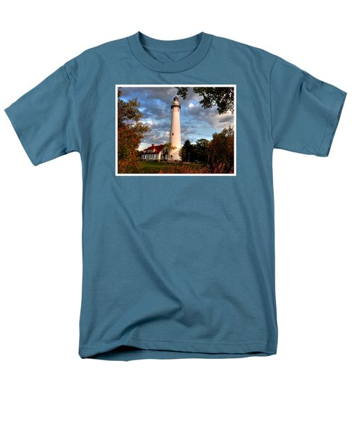 Men's T-Shirt  (Regular Fit) featuring the photograph Morning Light On The Light by Janice Adomeit
