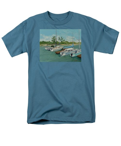 Men's T-Shirt  (Regular Fit) featuring the painting Morro Bay State Park Ca by Katherine Young-Beck