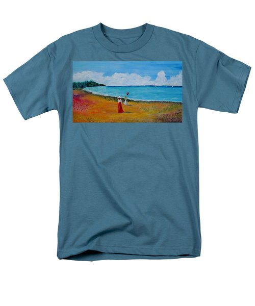 Men's T-Shirt  (Regular Fit) featuring the painting Mother And Daughter by Marilyn  McNish