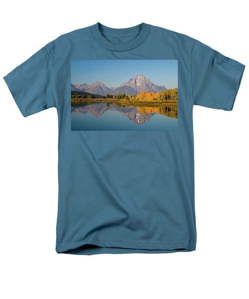 Men's T-Shirt  (Regular Fit) featuring the photograph Mount Moran by Steve Stuller