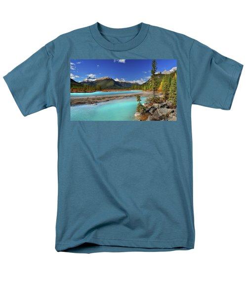 Men's T-Shirt  (Regular Fit) featuring the photograph Mount Saskatchewan by John Poon