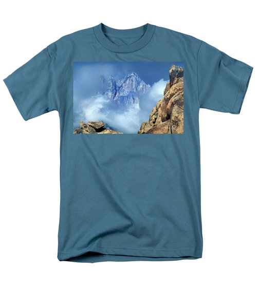 Mount Whitney Clearing Storm Eastern Sierras California Men's T-Shirt  (Regular Fit) by Dave Welling