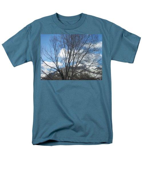 Mountain Backdrop Men's T-Shirt  (Regular Fit) by Jewel Hengen
