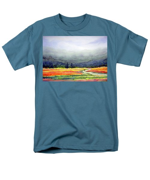 Mountain Flowers Valley Men's T-Shirt  (Regular Fit) by Samiran Sarkar