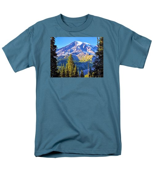 Men's T-Shirt  (Regular Fit) featuring the photograph Mountain Meets Sky by Anthony Baatz