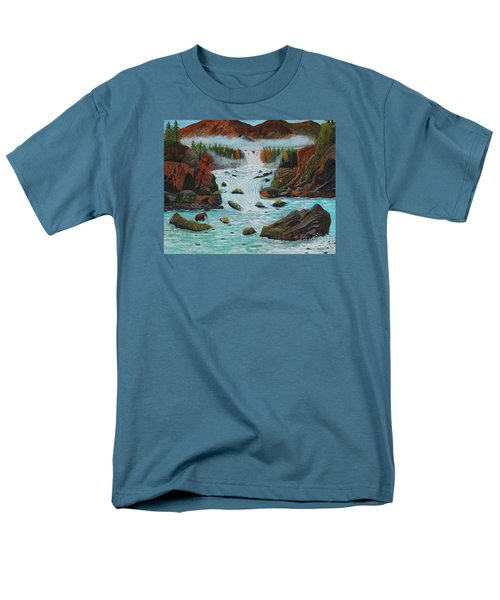Men's T-Shirt  (Regular Fit) featuring the painting Mountains High by Myrna Walsh