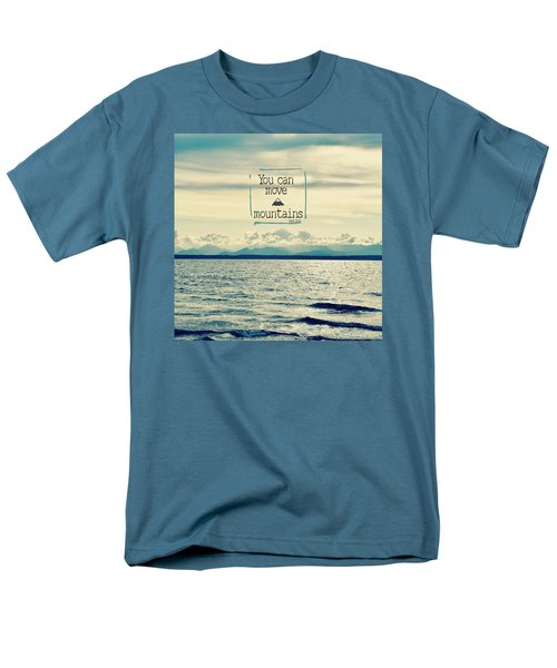 Move Mountains Men's T-Shirt  (Regular Fit) by Robin Dickinson