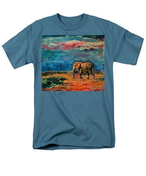 Moving Away Men's T-Shirt  (Regular Fit) by Khalid Saeed
