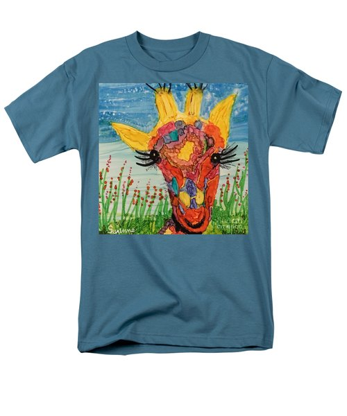 Men's T-Shirt  (Regular Fit) featuring the painting Mrs Giraffe by Suzanne Canner