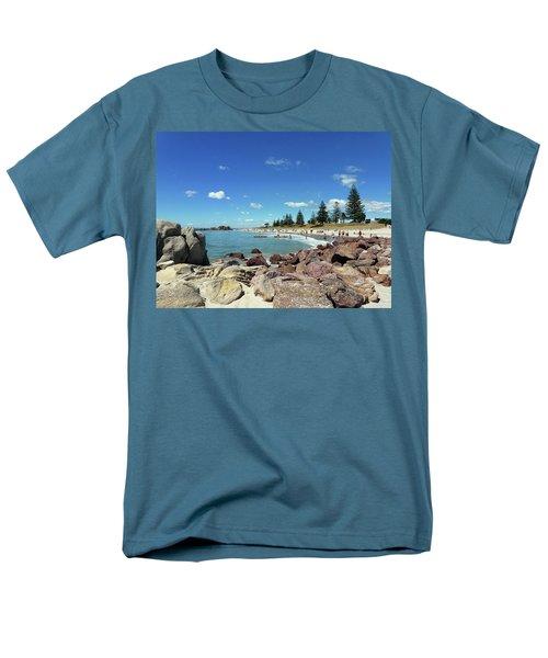 Men's T-Shirt  (Regular Fit) featuring the photograph Mt Maunganui Beach 3 - Tauranga New Zealand by Selena Boron