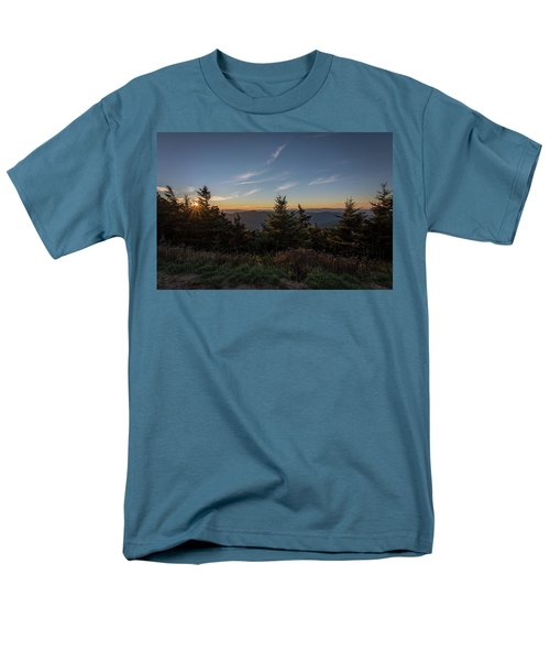 Mt Mitchell Sunset North Carolina 2016 Men's T-Shirt  (Regular Fit) by Terry DeLuco