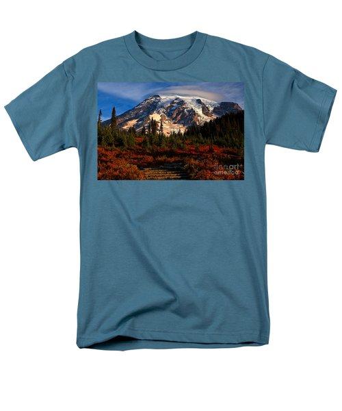 Mt. Rainier Paradise Morning Men's T-Shirt  (Regular Fit) by Adam Jewell