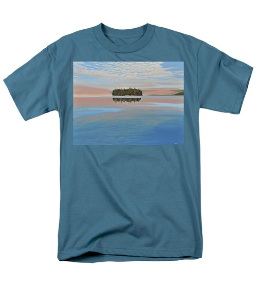 Men's T-Shirt  (Regular Fit) featuring the painting Mystic Island by Kenneth M  Kirsch