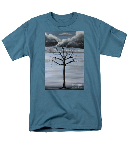 Men's T-Shirt  (Regular Fit) featuring the painting Nature's Power by Stacey Zimmerman