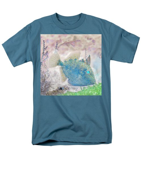 Men's T-Shirt  (Regular Fit) featuring the photograph Nautical Beach And Fish #2 by Debra and Dave Vanderlaan