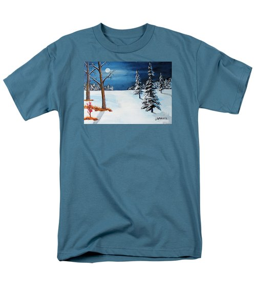 New Moon New Snow Men's T-Shirt  (Regular Fit) by Jack G Brauer