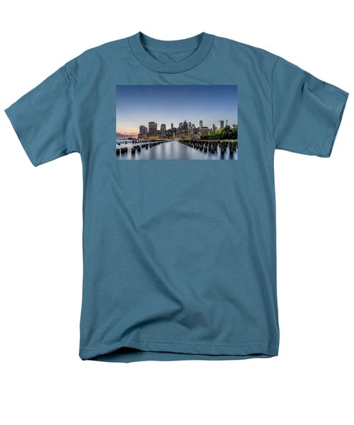 New York City Dusk Men's T-Shirt  (Regular Fit) by Rafael Quirindongo