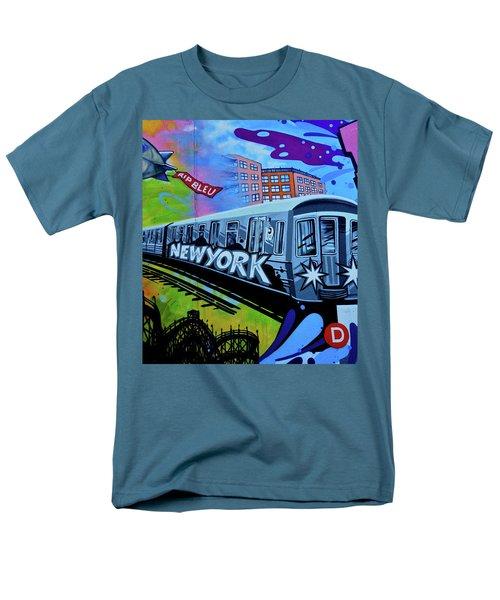 New York Train Men's T-Shirt  (Regular Fit) by Joan Reese