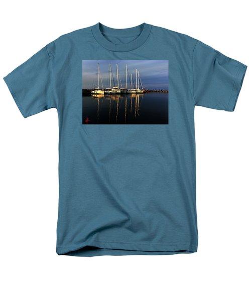 Night On Paros Island Greece Men's T-Shirt  (Regular Fit) by Colette V Hera  Guggenheim