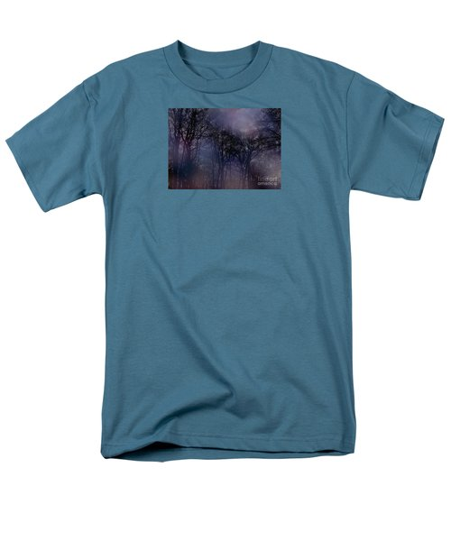 Nightfall In The Woods Men's T-Shirt  (Regular Fit) by Sandy Moulder