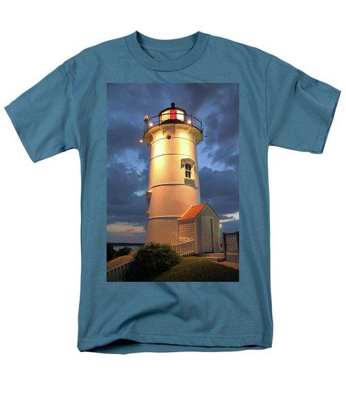 Nobska Point Lighthouse Men's T-Shirt  (Regular Fit) by Roupen  Baker