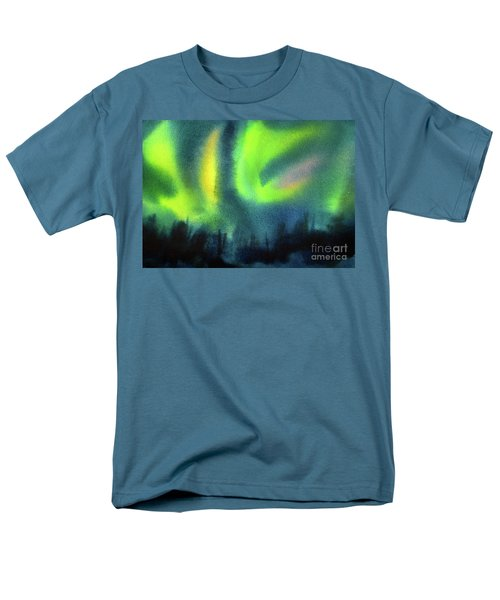 Men's T-Shirt  (Regular Fit) featuring the painting Northern Lights 3 by Kathy Braud