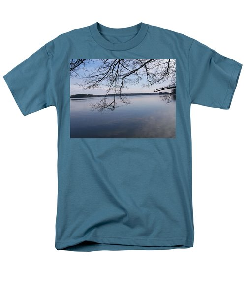 Men's T-Shirt  (Regular Fit) featuring the digital art Not A Ripple by Barbara S Nickerson