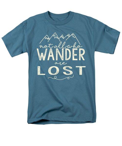 Not All Who Wander Men's T-Shirt  (Regular Fit)
