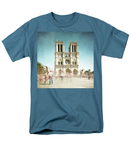 Men's T-Shirt  (Regular Fit) featuring the photograph Notre Dame by Hannes Cmarits
