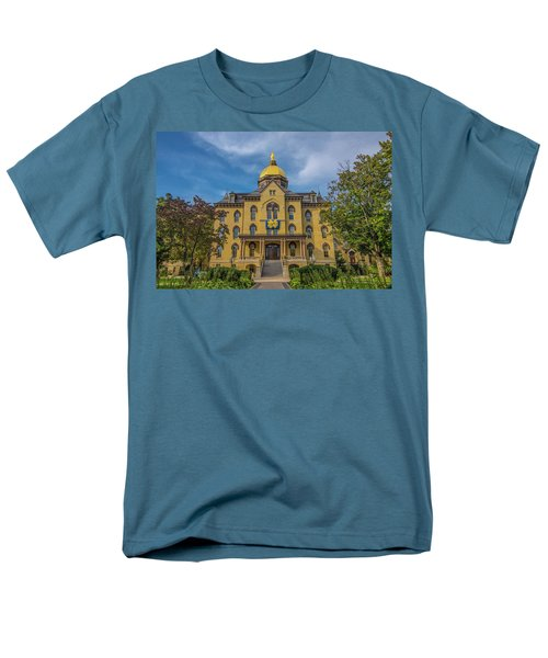 Men's T-Shirt  (Regular Fit) featuring the photograph Notre Dame University Golden Dome by David Haskett