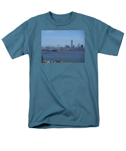 Nyc Skyline Men's T-Shirt  (Regular Fit) by Kathleen Peck
