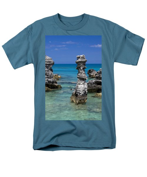 Ocean Rock Formations Men's T-Shirt  (Regular Fit) by Sally Weigand